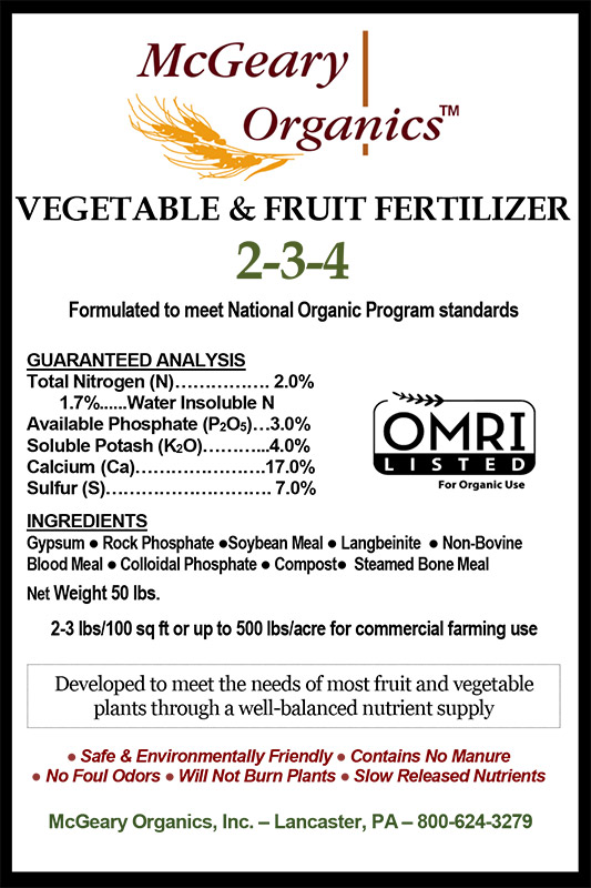 Organic Vegetable & Fruit Fertilizer