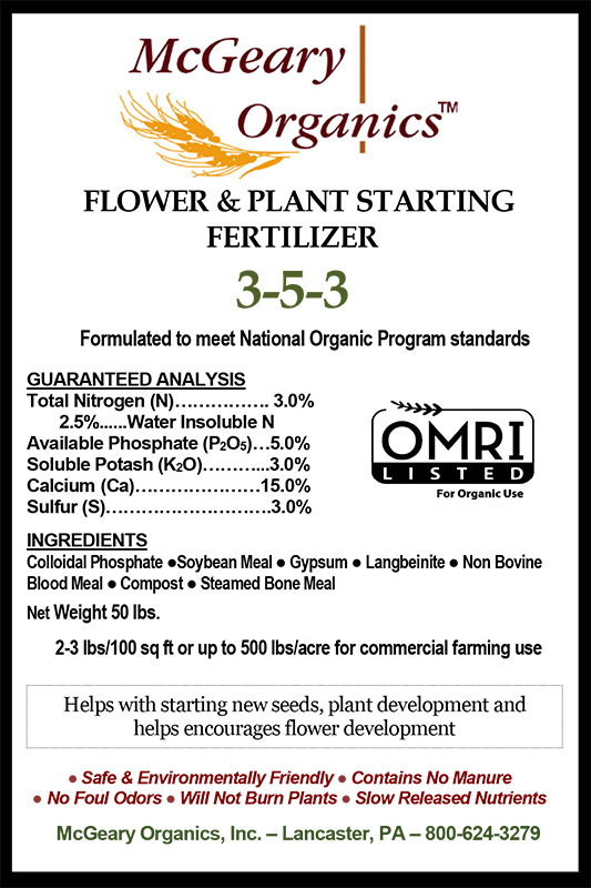 Organic Flower & Plant Starting Fertilizer
