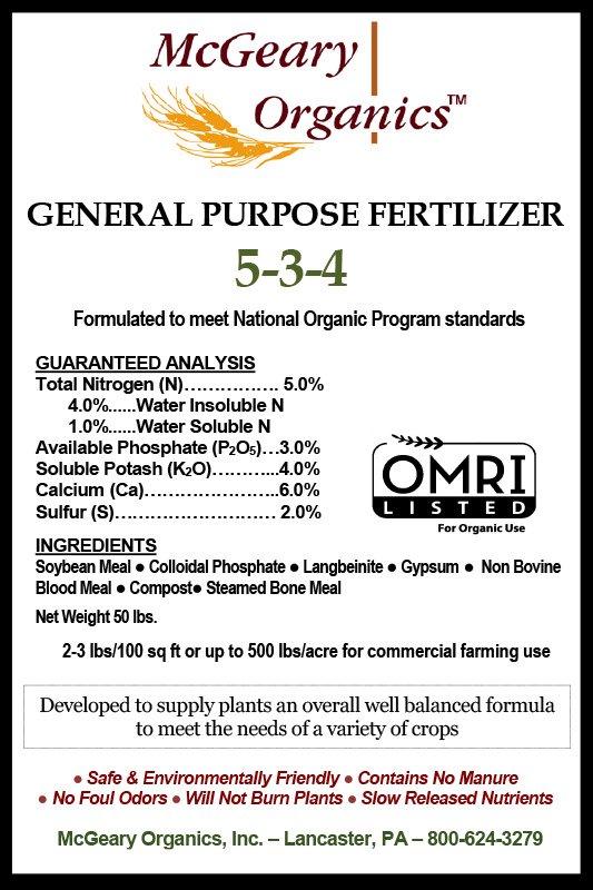 Fertilizer information