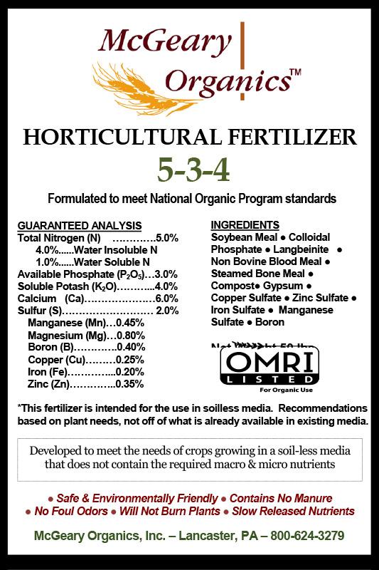 Organic Horticultural Fertilizer