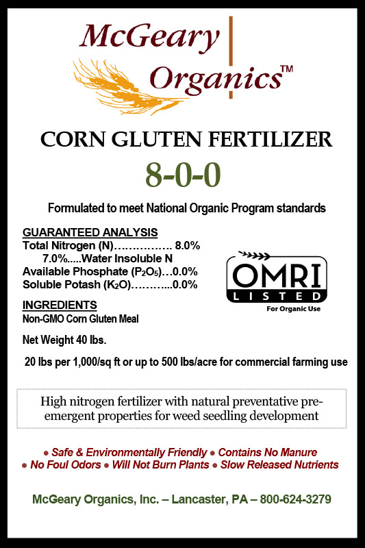 Organic Corn Gluten Fertilizer