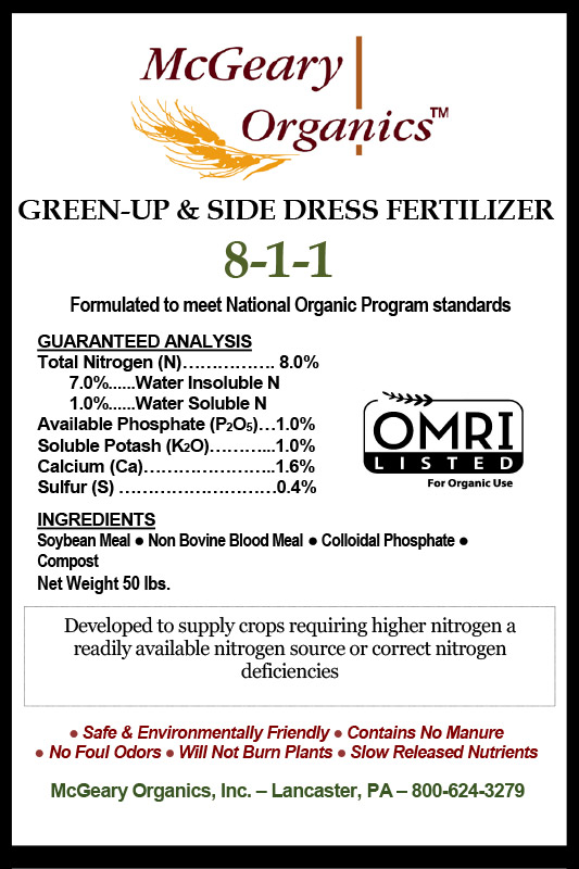 Organic Green-Up & Side Dress Fertilizer